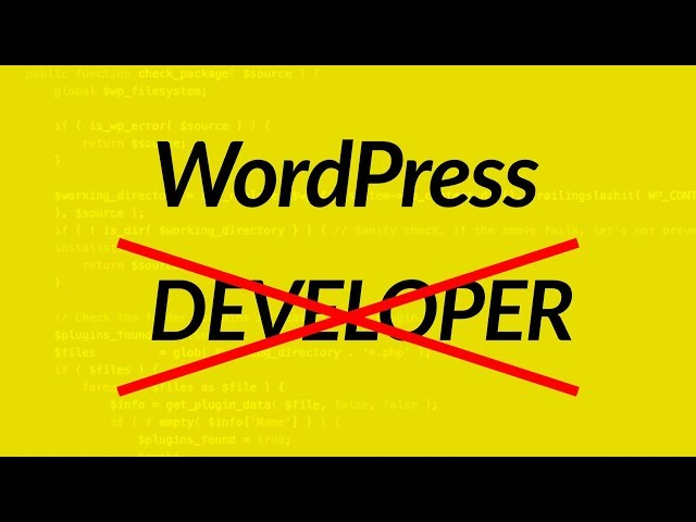 Are WordPress Developers REAL Developers?