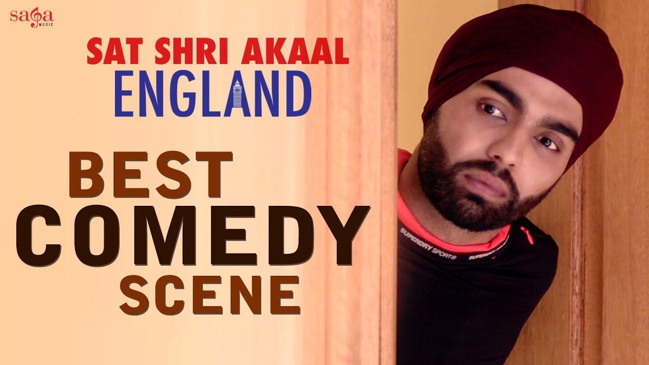 Best of Ammy Virk & Karamjit Anmol Comedy Scene | Sat Shri Akaal England, Punjabi Comedy Funny M