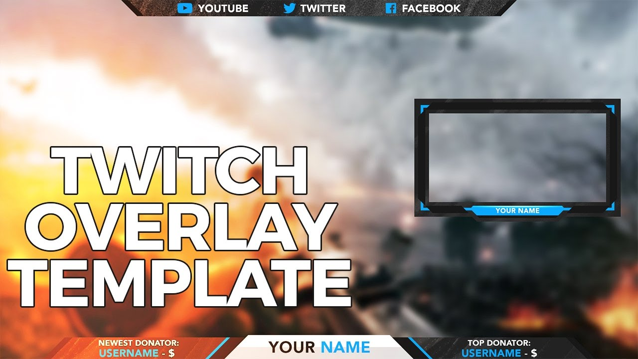 Sandstorm Twitch Overlay Template Created In Photoshop