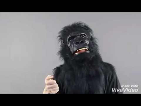 Animated Animal Gorilla Mask With Sound Effects Halloween