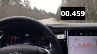 Tesla Model S P100DL+ 0-100 km/h