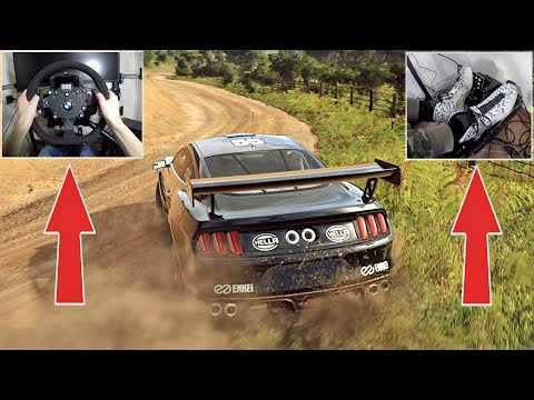 DiRT Rally 2.0 - Ford Mustang GT4 on GRAVEL with Fanatec Wheel, E-Brake & Pedal GAMEPLAY!