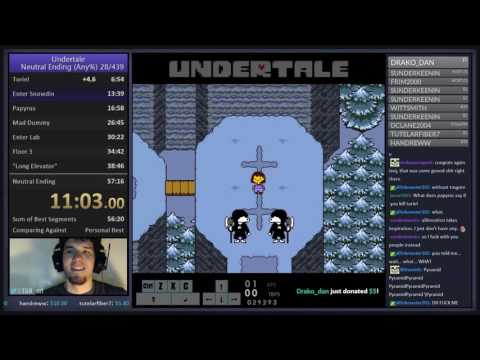 World Record - Undertale: Any% (Neutral) In 57:02