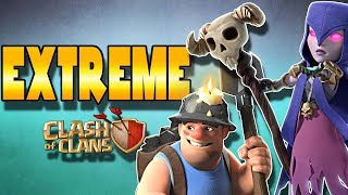 EXTREME Miners vs Frozen Witch Attacks | Clash of Clans
