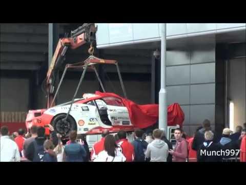 """Siêu xe Ferrari """"tử nạn"""" trên đường đua mạo hiểm"""