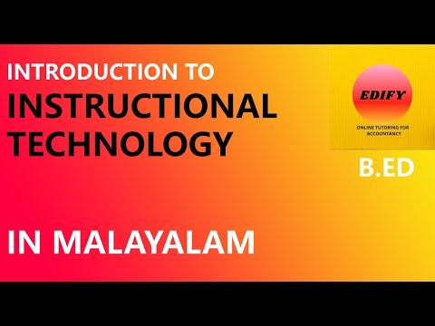 Instructional technology in MALAYALAM