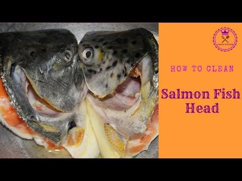 சால்மன் மீன் தலை சுத்தம் செய்வது எப்படி  | How To Clean Salmon Fish Head | #14 | Arsaaf Kitchen