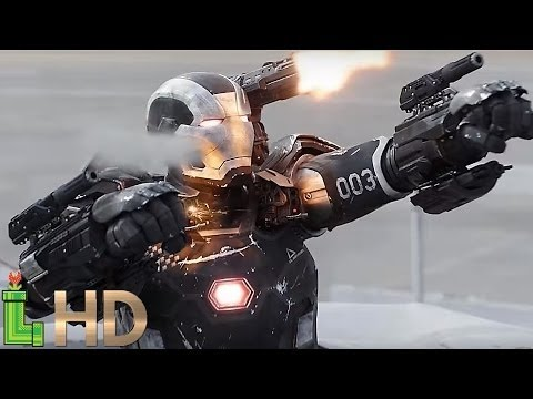 War Machine ALL FIGHT Scenes (MCU Including Captain America Civil War) HD