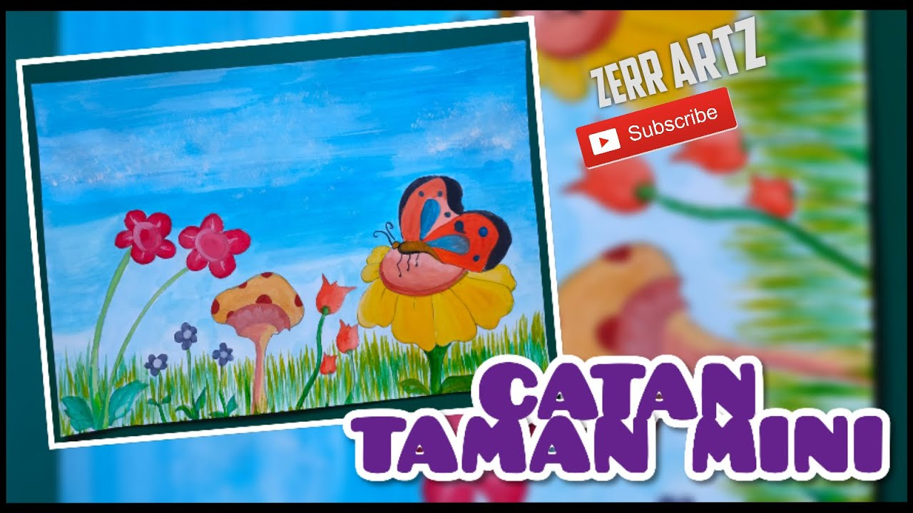 Catan Taman Mini Warna Air Poster Color Artlife Youtube