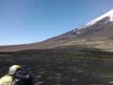 Hiking at Osorno Volcano, Lake District Patagonia, Chile