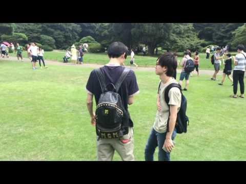 Pokémon GO at Shinjuku Gyoen Japan