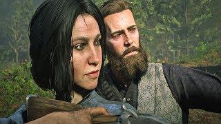 Red Dead Redemption 2 - Arthur Teaches Widow To Shoot & Dinner Date