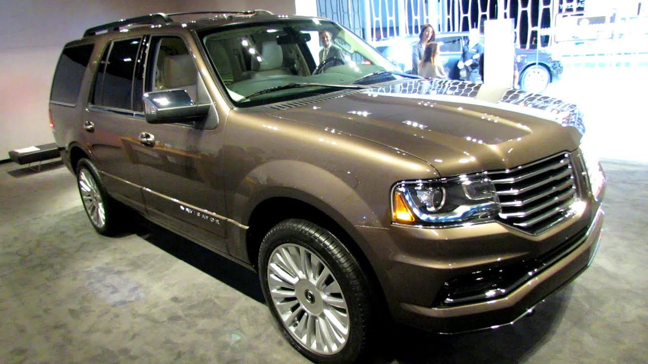 2015 lincoln navigator exterior and interior walkaround 2014 new york auto show youtube