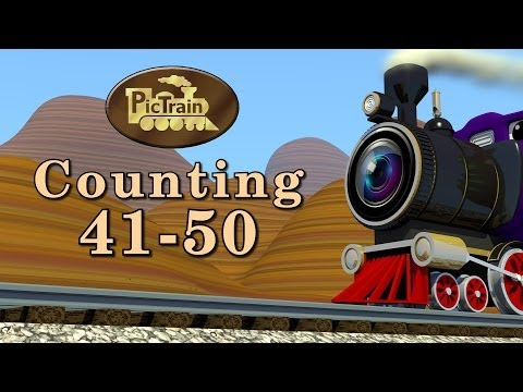 Counting 41-50, Learn Numbers 41-50 on the PicTrain™