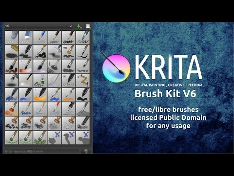 Conjunto de pincéis para Krita