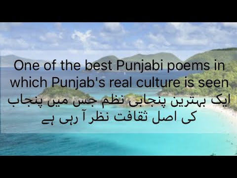 One of the best Punjabi poems in which Punjab's real culture is seen ایک  بہترین پنجابی نظم جس میں پن