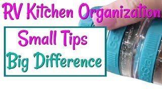 HOW TO ORGANIZE YOUR RV KITCHEN