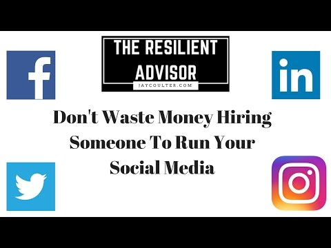 Don't Waste Money Hiring Someone To Run Your Social Media