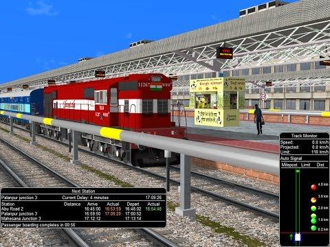 22452/Chandigarh - Mumbai Bandra Bi-weekly SF Express Part 2 || Indian Railways In MSTS Open Rail
