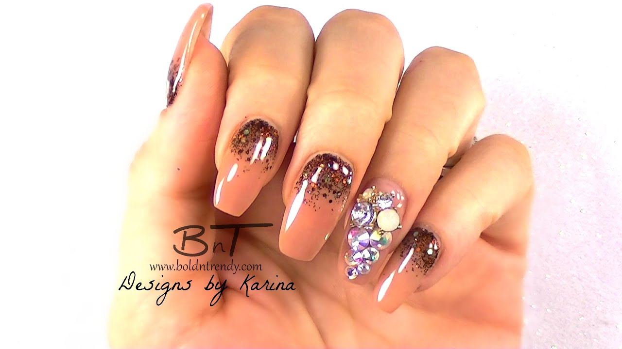 How To Easily Change A Nail Design Natural Acrylic Nails E049