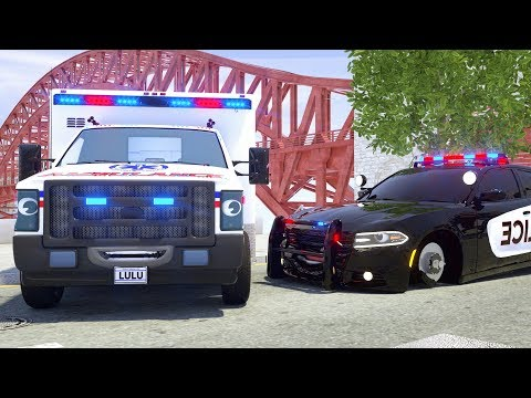 Sergeant Lucas the Police Car Rescue Ambulance LuLu - Wheel City Heroes (WCH) - Video for Kids