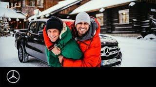 JP Kraemer und Matthias Malmedie: Mit der neuen X-Klasse durch den Tiefschnee