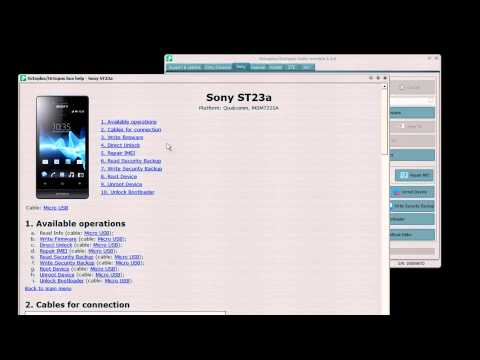 Sony ST23a (Xperia Miro) Full Phone Repair with Medusa Box