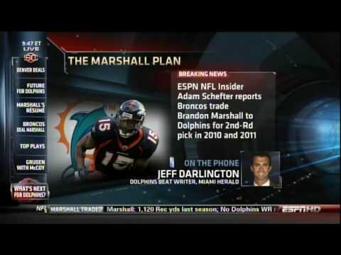 Brandon Marshall traded to Miami Dolphins -- SportsCenter