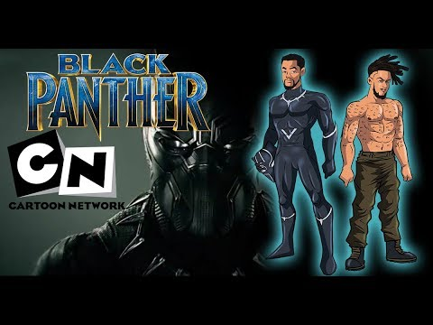 Black Panther Cartoon Network Style Clip Studio Paint