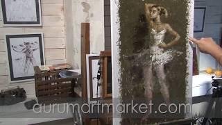 Видео урок живописи Образ балерины - Одетта