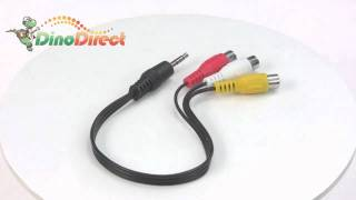 Practical 1m 3.5 Audio to 3 RCA Female Cable  from Dinodirect.com