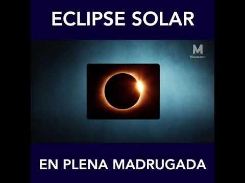 ¿Eclipse Solar en la Madrugada?¿Quien eclipsa a que?.El Sol no podria verse y la Luna esta arriba