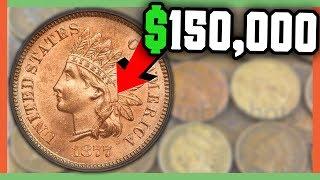 $150,000 RARE PENNY!! INDIAN HEAD PENNIES WORTH MONEY!!