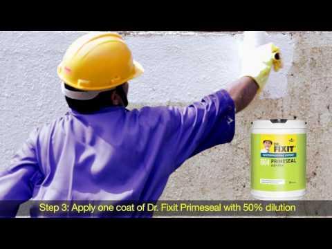 Dr. Fixit Raincoat - External walls - Application