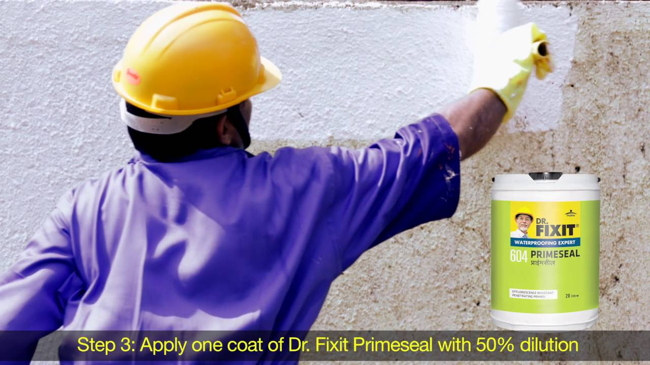 Dr Fixit Raincoat External Walls Application Youtube