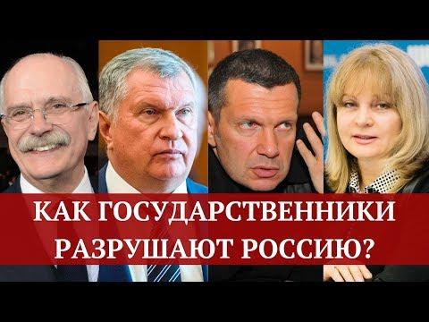 Как государственники разрушают государство? Как они хоронят Россию?