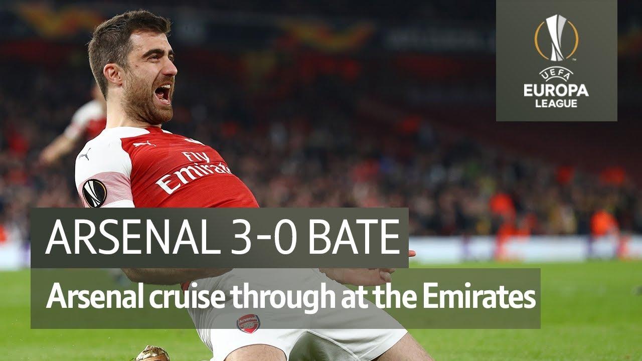 Arsenal Vs Bate 3 0 Uefa Europa League Highlights Youtube