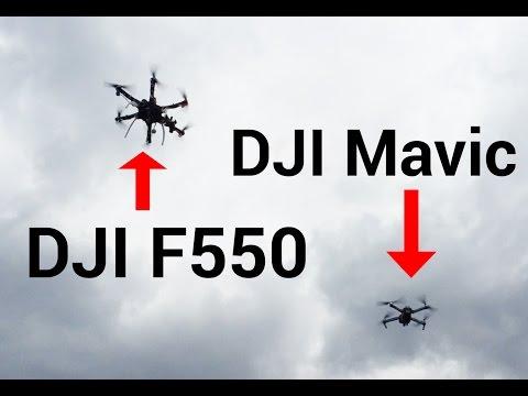 DJI Mavic Pro y DJI F550 volando juntos