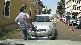 Angry Pedestrian, Close Calls & Cyclist Encounters [Cars Dash Cams Ep. 8]