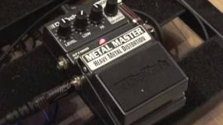 Digitech X-Series Metal Master guitar distortion effects pedal demo