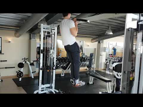 Weighted Chin-ups [10 kg added weight]