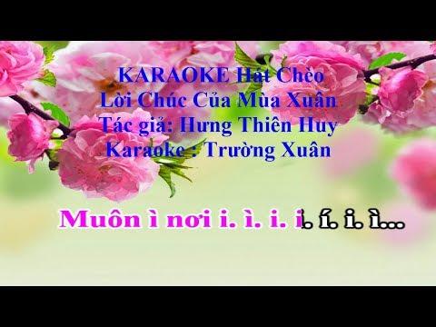 Karaoke Hát Chèo_  Lời Chúc Của Mùa Xuân (Điệu đào liễu)