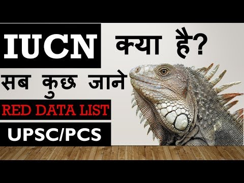 what is IUCN , RED DATA BOOK