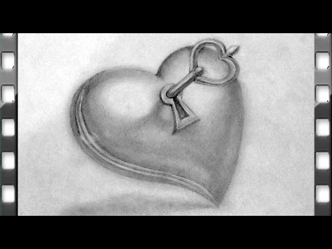 Comment Dessiner Un Coeur Avec Une Cle Youtube