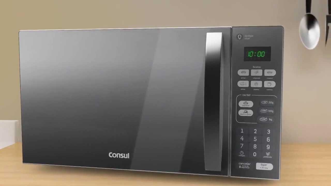 63113e419 Gazin apresenta Micro-ondas 20 Litros Consul Com Porta Espelhada - YouTube