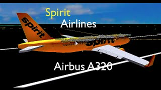 Spirit Airlines A320 Flight || ROBLOX
