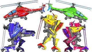 Assemble Robot War Helicopter Game (Transformer) - 15 Color Modes | Eftsei Gaming