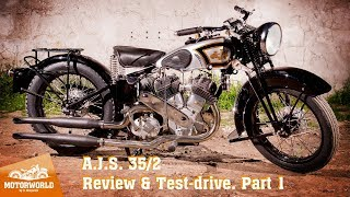 1935, A.J.S. 35/2. Review & test-drive, part 1. Motorworld by V. Sheyanov classic bike museum
