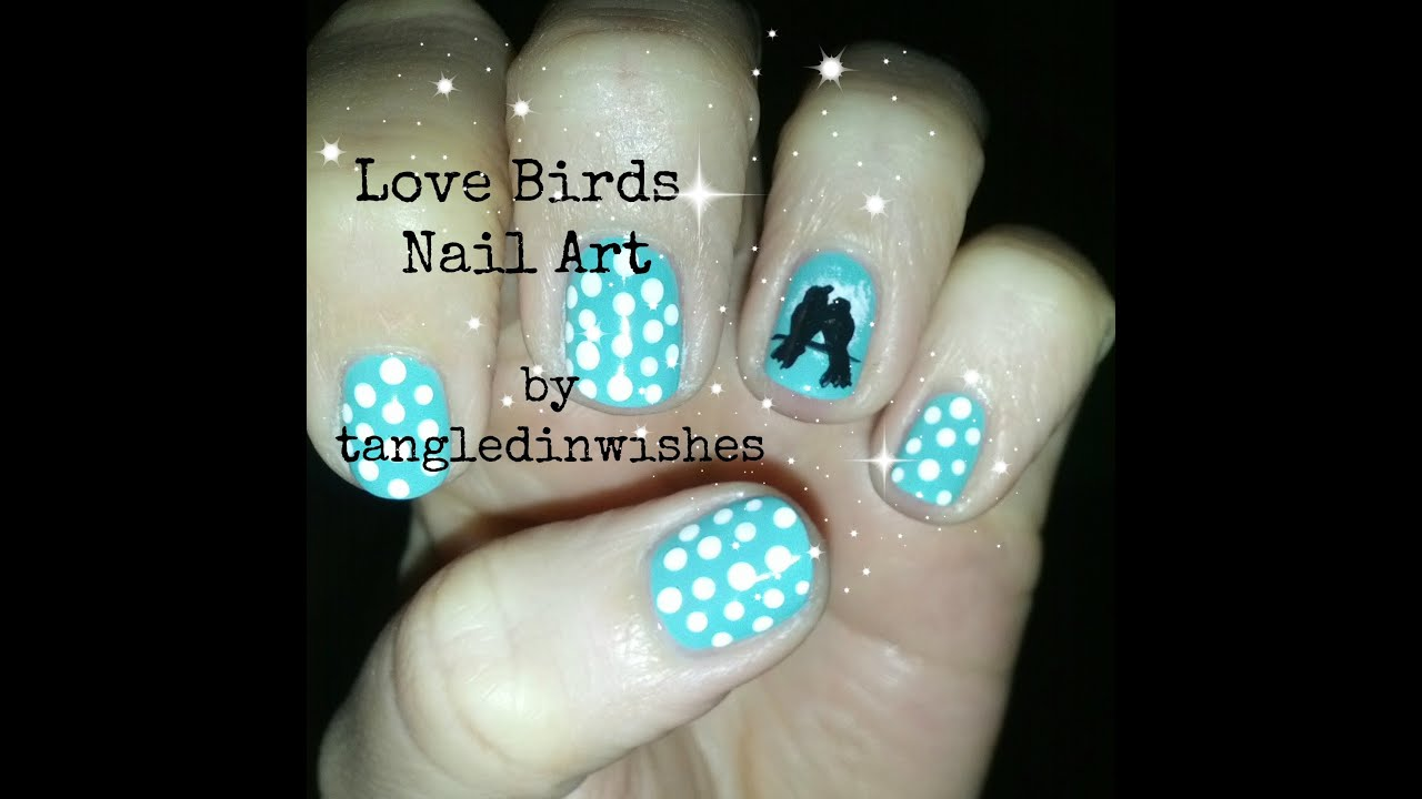Love birds nail art design youtube prinsesfo Images