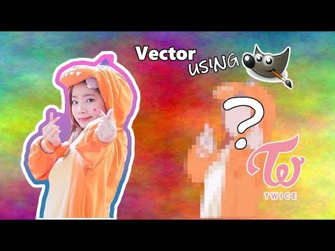 VECTOR ART| Using Gimp 2.10.8 | TWICE Dayhun thumbnail